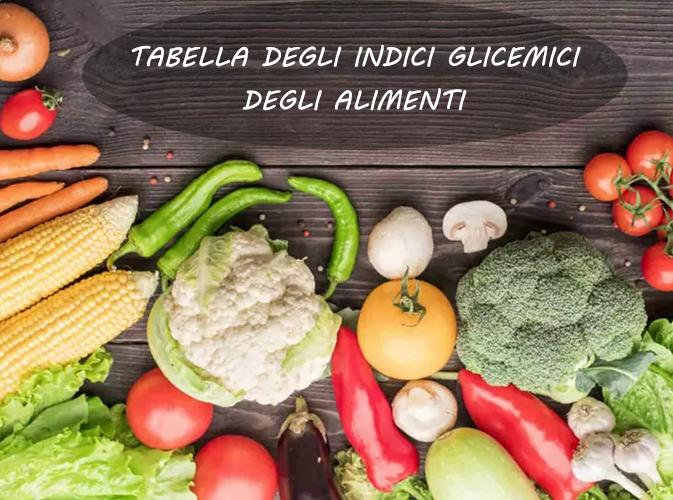 tabella degli indici glicemici degli alimenti